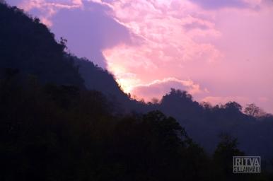 Sunset at Kwai river