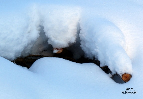 A hole in the snow