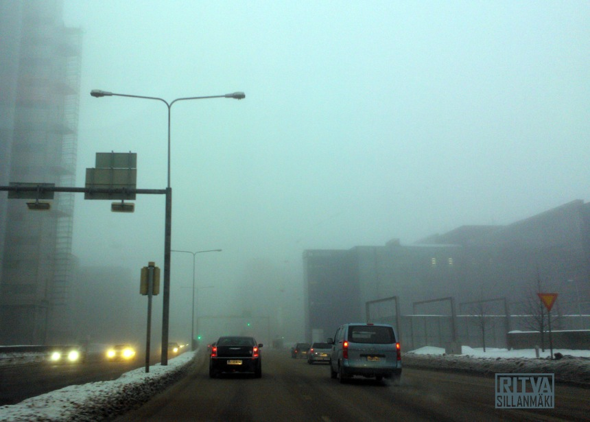Hazy foggy day