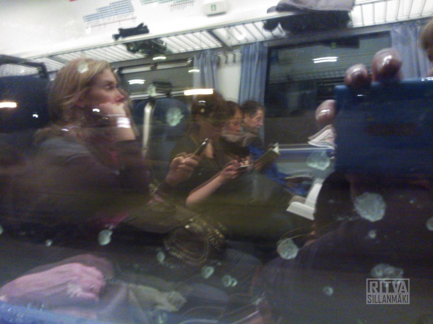 mirror image from train