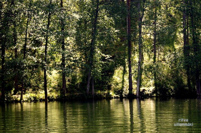 reflection on a lake In Heinola