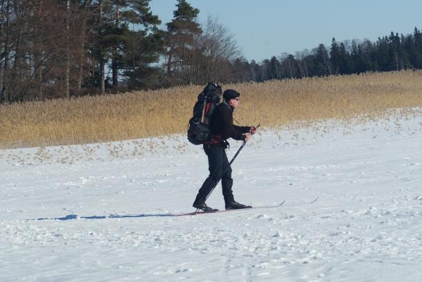 skiing on ice /sea
