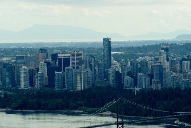 looking down towards Vancouver