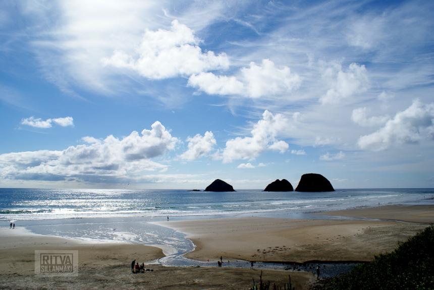 Oregon coastline - one lighthouse-92