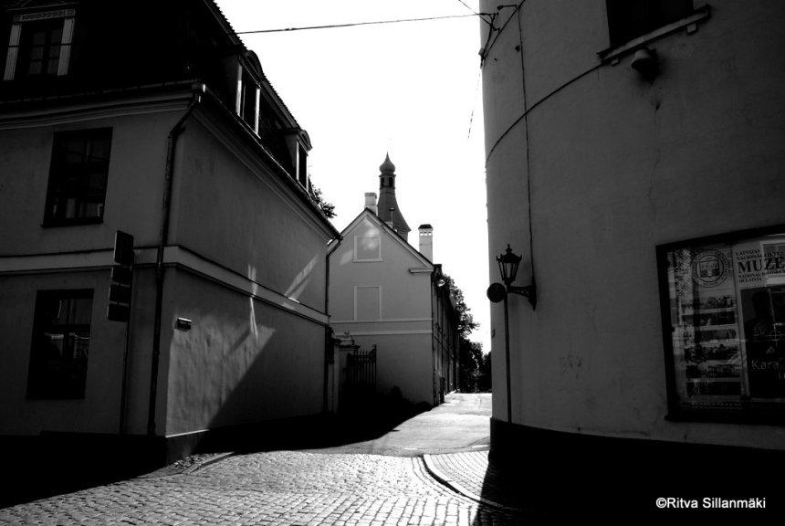empty street in Riga