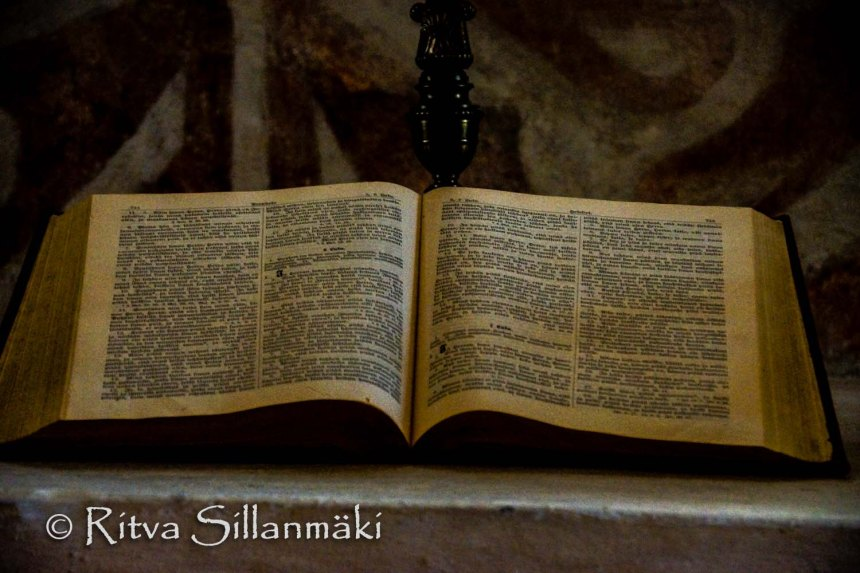 Bible at Espoo Old Church-66