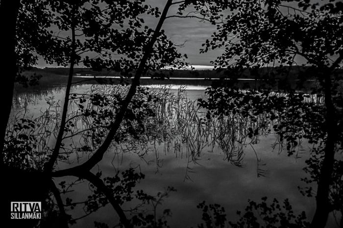 Lakeside at dusk
