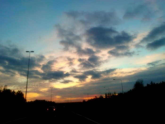 Sunset on  HIGHWAY