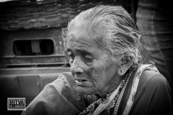 Old Lady from Maposa , Goa