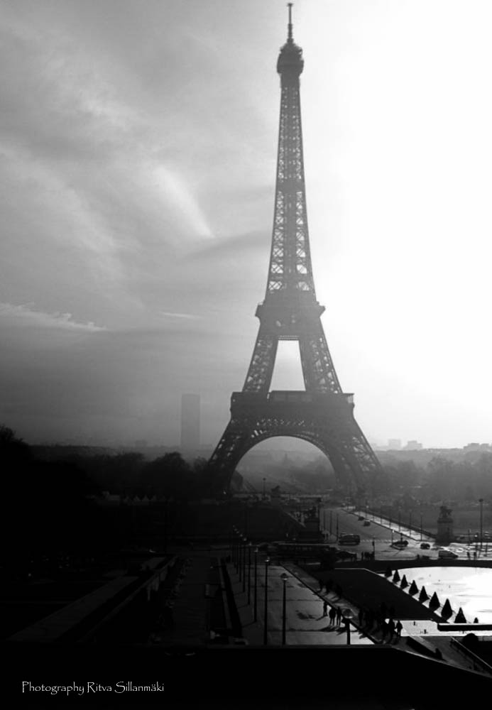 Eiffel Tower in Monochrome