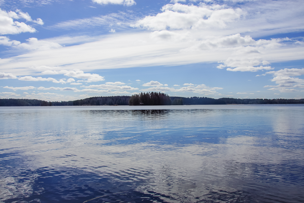 Reflection on a lake-