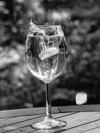 Splash in a glass 5 - BW