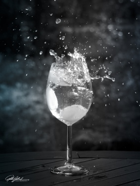 Splash in a glass 2 -BW
