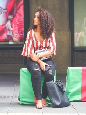 Lady in stripes