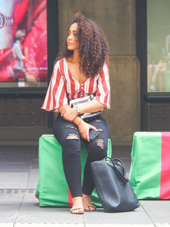Lady in stripes